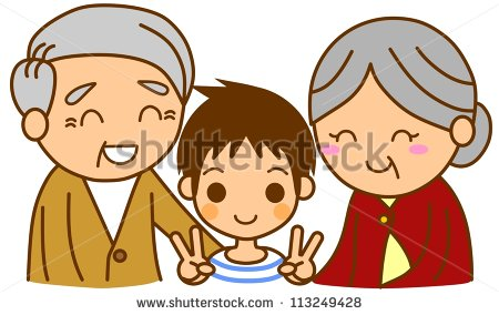 Grandma Grandpa And Grandson Clipart