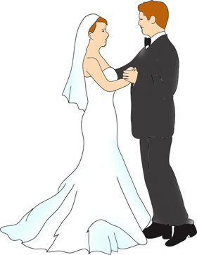 Lovetoknow   Free Clipart Of Brides And Grooms
