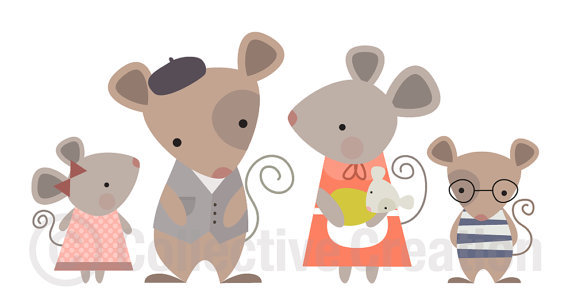 Mice Clipart Mouse Family Digital Clip Art