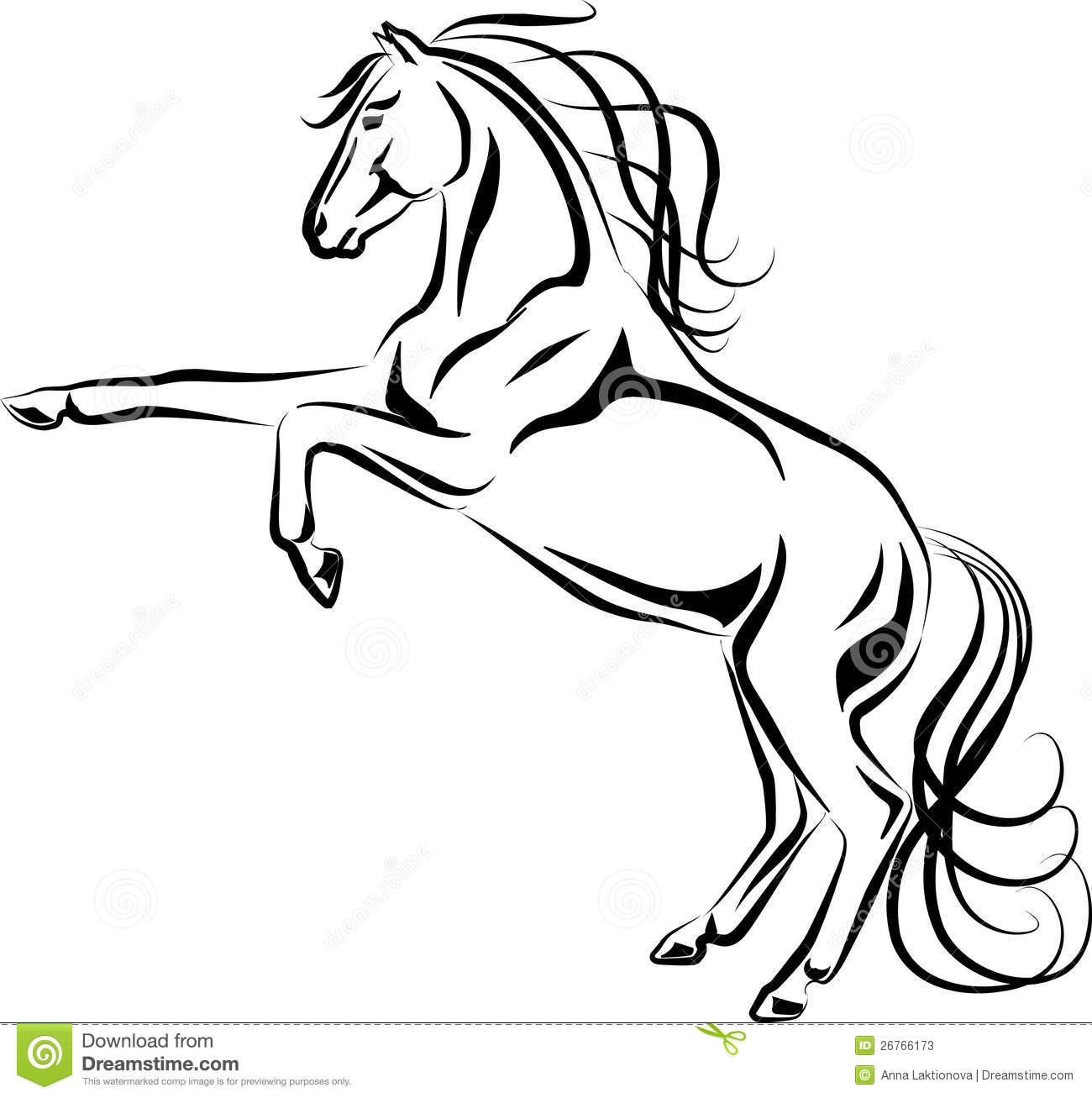 Horse black line clipart clipart suggest for Mustang horse coloring pages printable