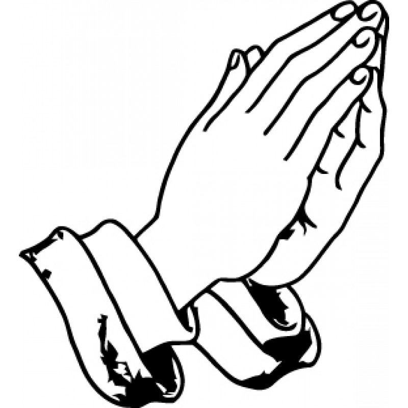 Praying Hands Printable Clipart - Clipart Kid