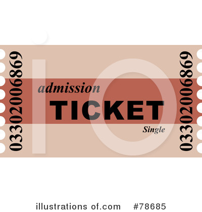 Royalty Free  Rf  Ticket Clipart Illustration By Prawny   Stock Sample