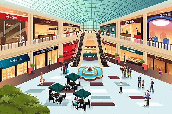 Clip art cartoon mall clipart clipart suggest - Centro comercial moda shoping ...