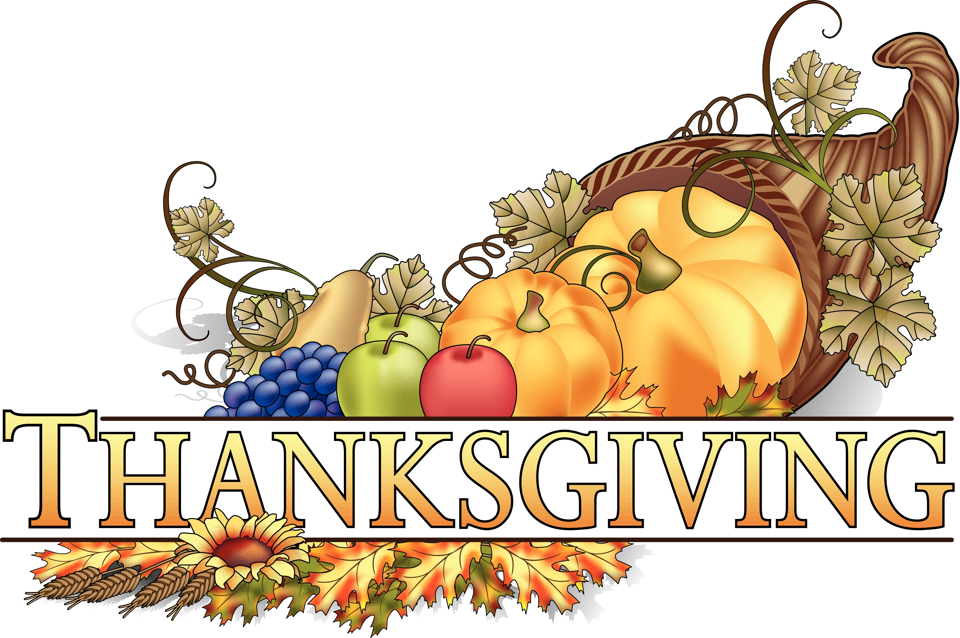 Thanksgiving Cornucopia Wordart