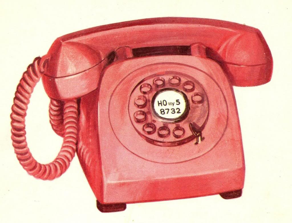Vintage Retro Flashcard Rotary Phone Graphic Photo By Sarahjmorriss