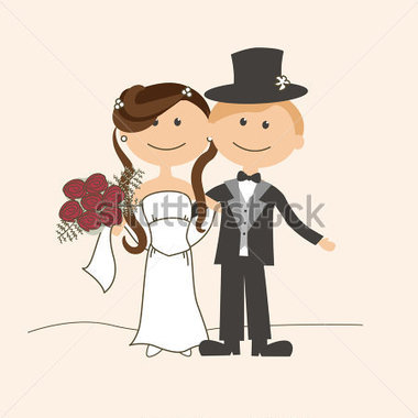 Wedding Invitation With Funny Bride And Groom 102593186 Jpg