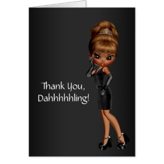 African American Princess Diva Thank You Cards By The Thank You Store
