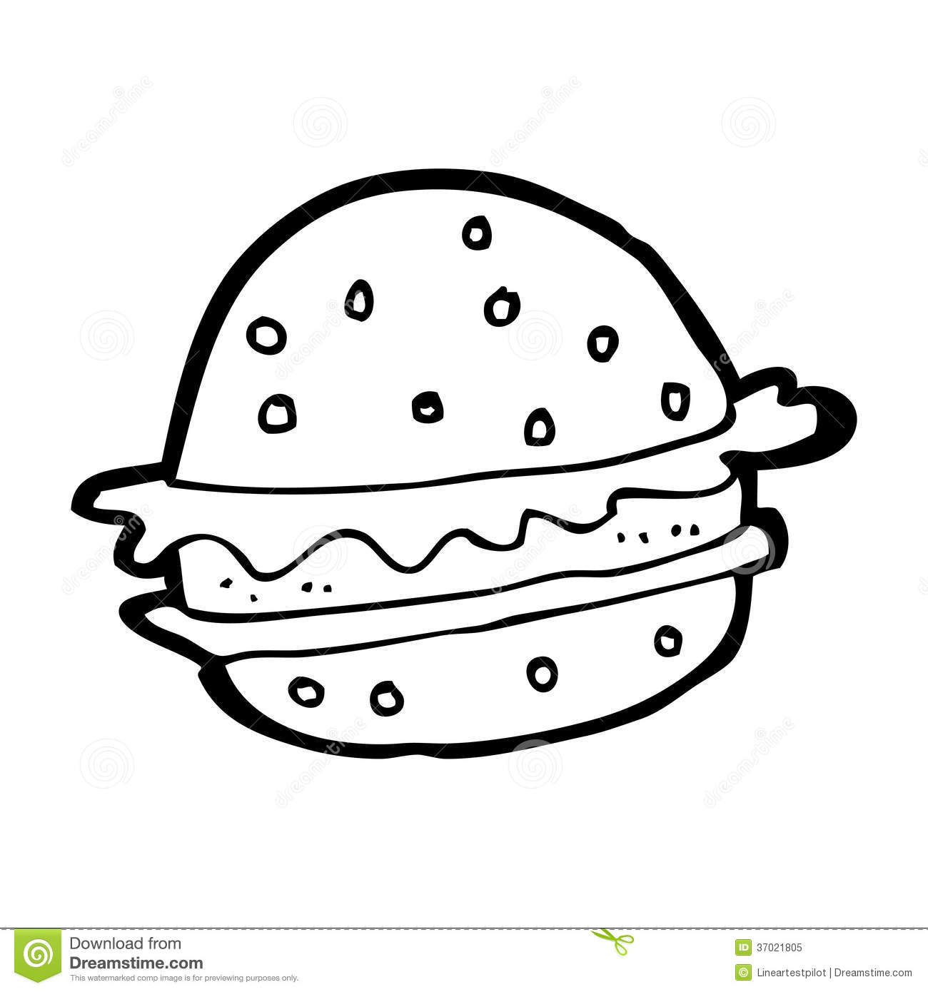 Hamburger Black And White Clipart - Clipart Kid