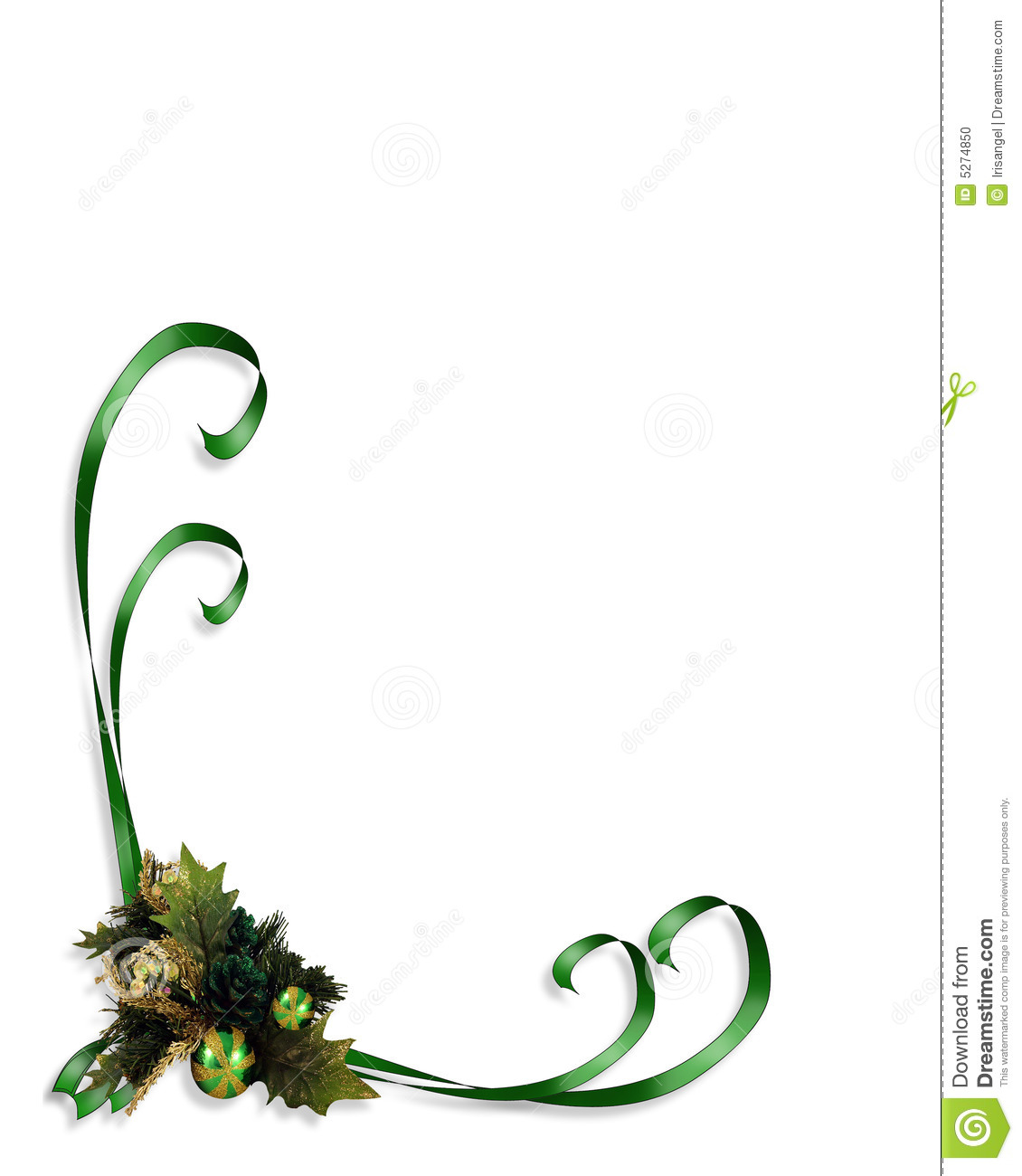 Christmas Border Corner Design Element Image And Illustration