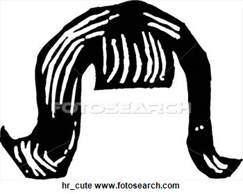 Clip Art Black And White Hair