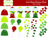 Clipart   Christmas Candy Clipart   Christmas Clip Art    On Etsy