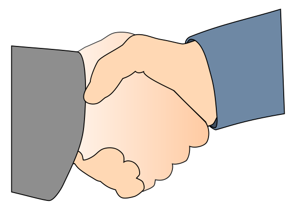 Handshake With Border Clipart Medium Size