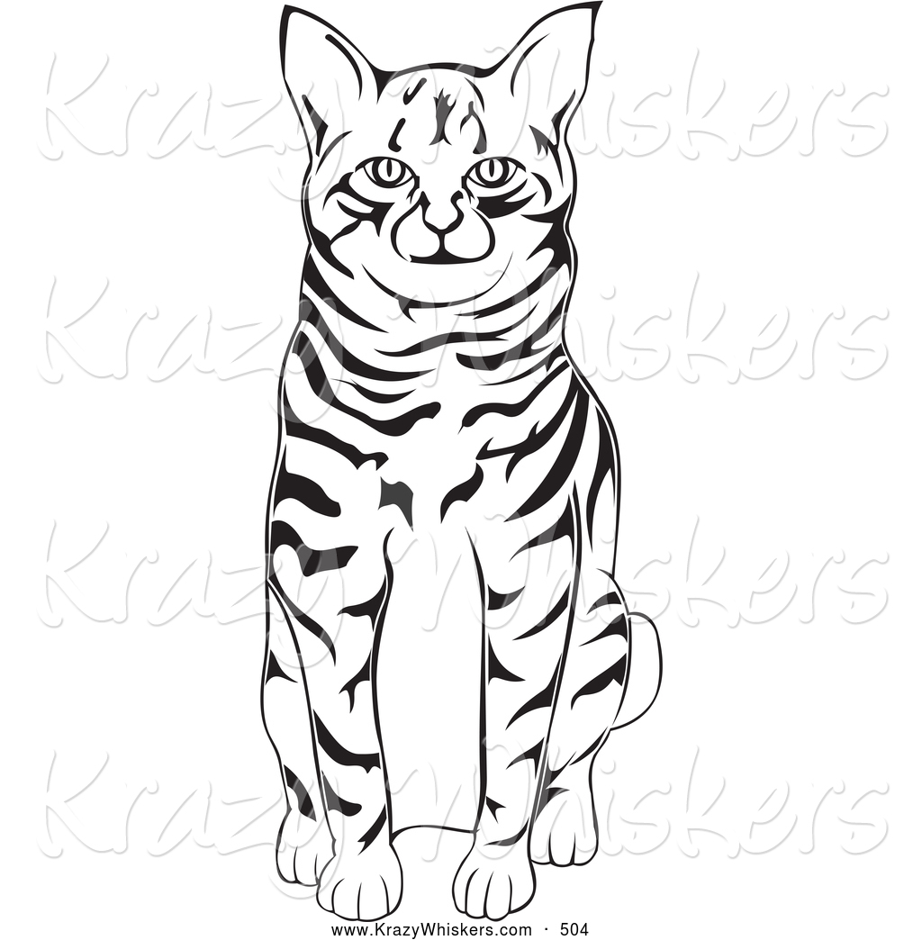 Larger Preview  Critter Clipart Of A Friendly Black And White American