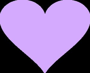 Light Violet Heart Clip Art At Clker Com   Vector Clip Art Online