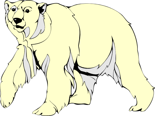 Polar Bear Walking Clip Art At Clker Com   Vector Clip Art Online
