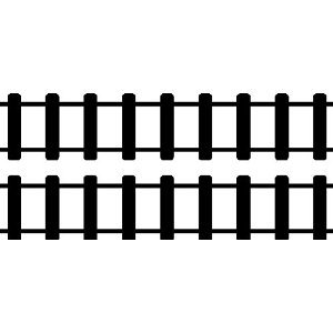 Straight Train Track   Clipart Panda   Free Clipart Images