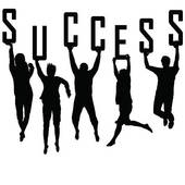 Success Concept With Young Team Silhouettes   Stock Illustration