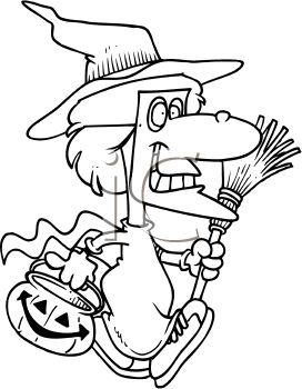 Witch Clip Art Black And White