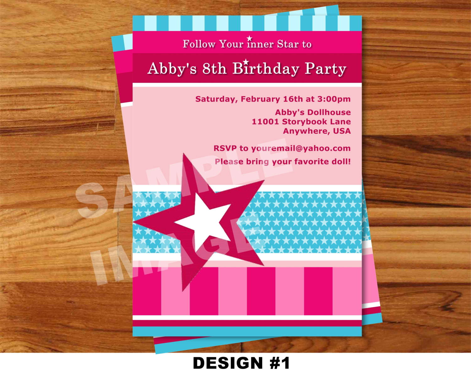 American Girl Invitation Doll Invitation By Storybooklanecrafts