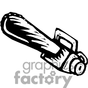 Black And White Cartoon Chainsaw