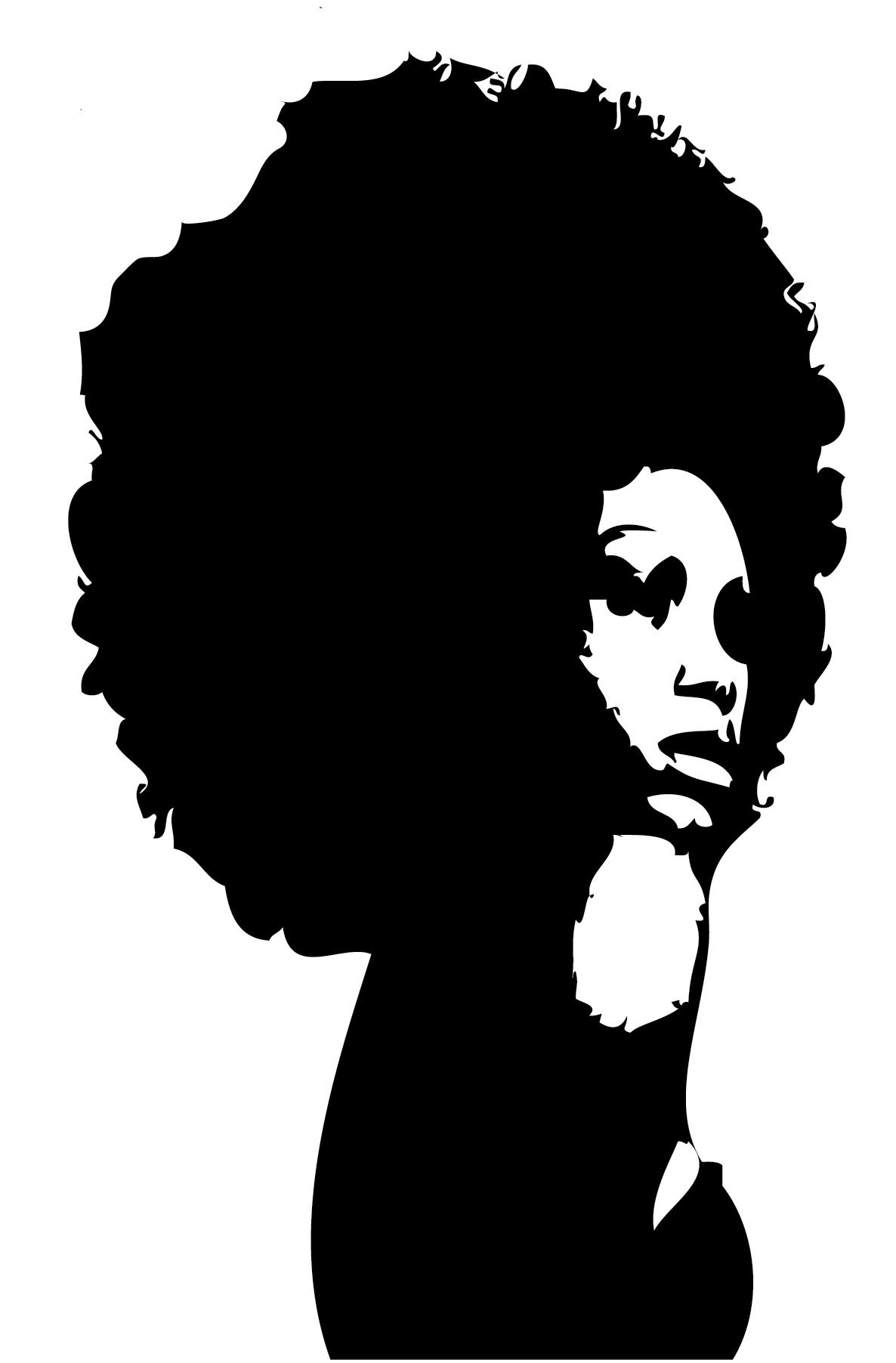 Black Woman Afro Silhouette Images   Pictures   Becuo   Cliparts Co