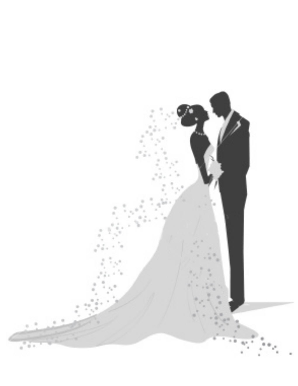 Wedding Bride And Groom Clipart