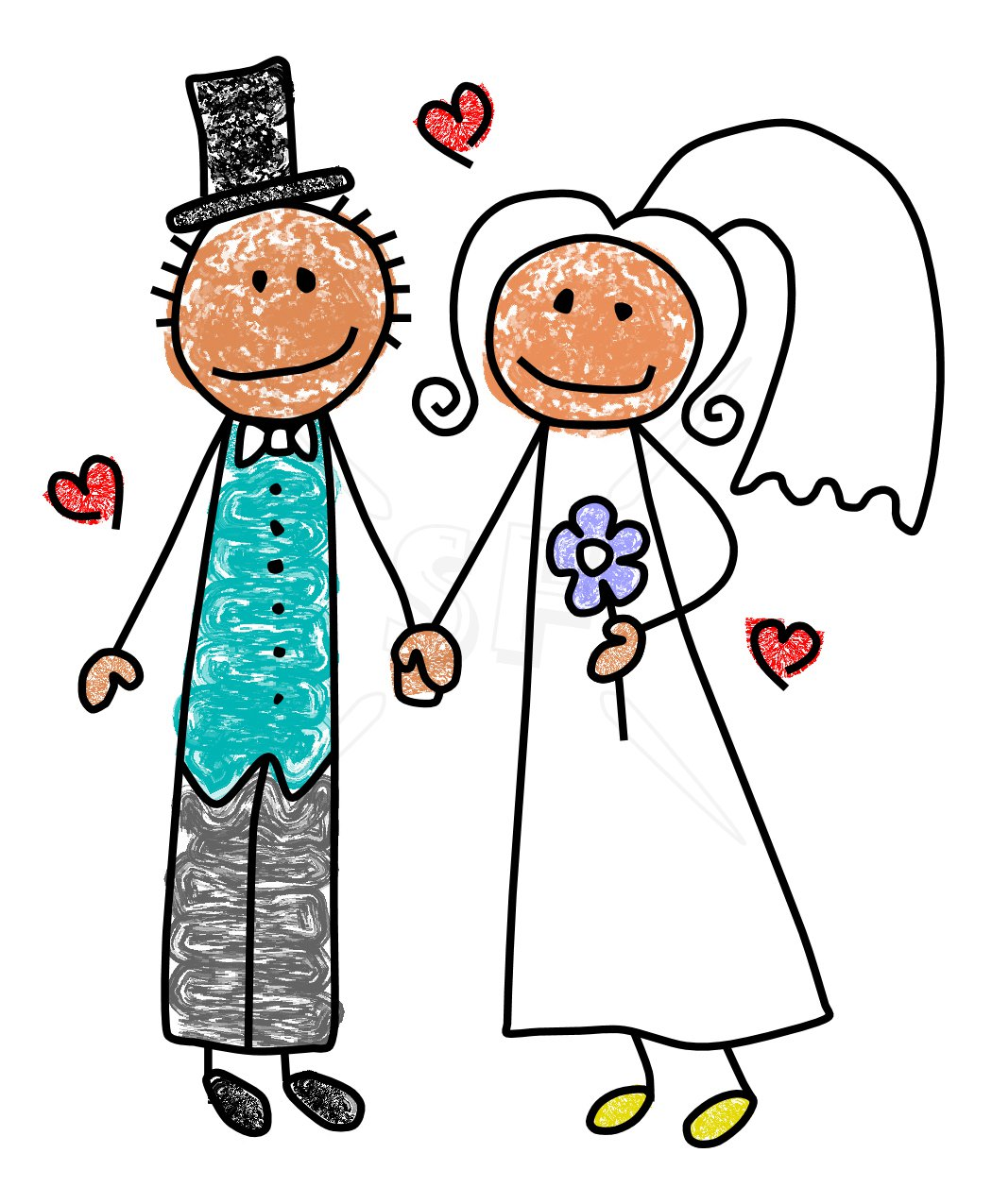 Clip Art Bride And Groom Clipart bride and groom clipart kid stick figures 10 images
