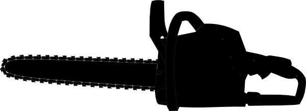 Chainsaw Black Outline Clip Art At Clker Com   Vector Clip Art Online