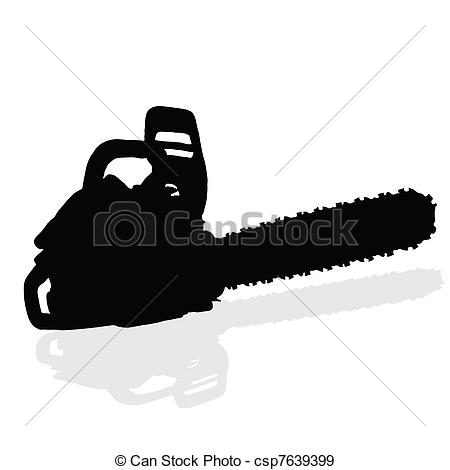 Chainsaw Black Vector Silhouette   Csp7639399