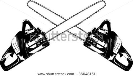 Chainsaws Stock Vector 36648151   Shutterstock