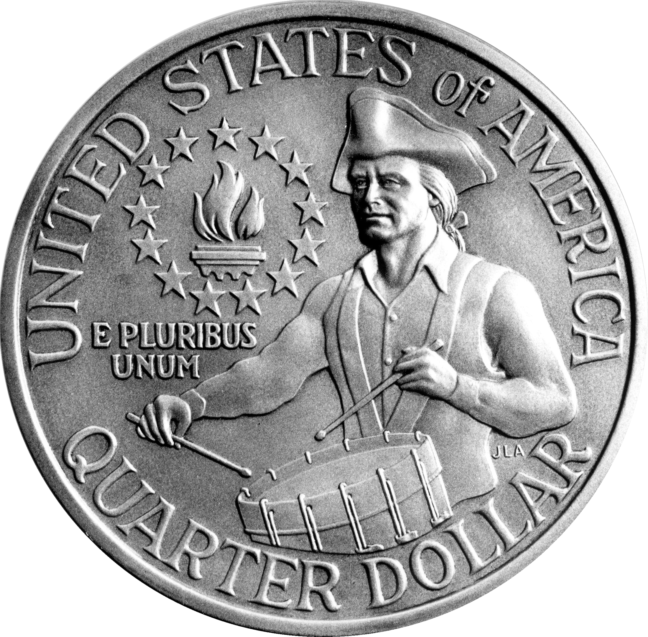 Description 1976 Bicentennial Quarter Rev Png