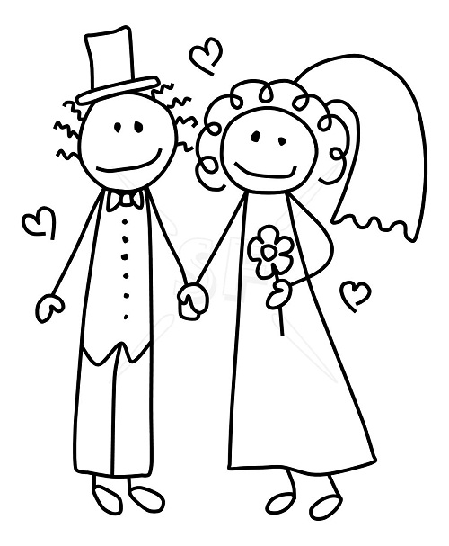 Bride And Groom Clipart - Clipart Kid