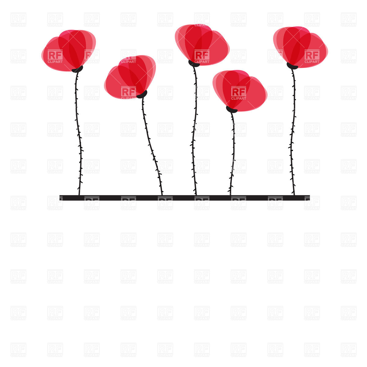 Clip Art Orange Poppies Clipart - Clipart Kid