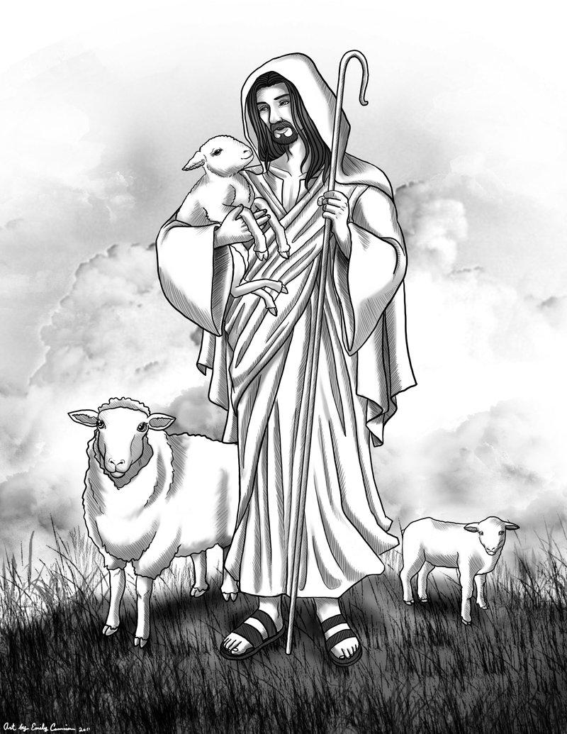 Jesus The Good Shepherd Clipart