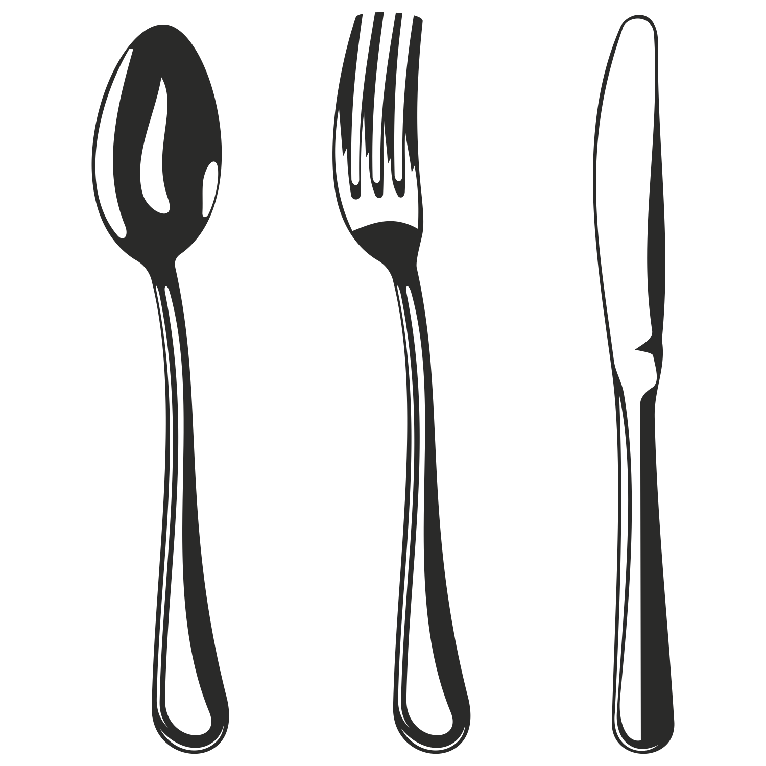 Fork Spoon Knife Clipart - Clipart Kid