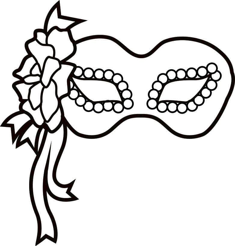 Mardi Gras Black And White Clipart - Clipart Kid