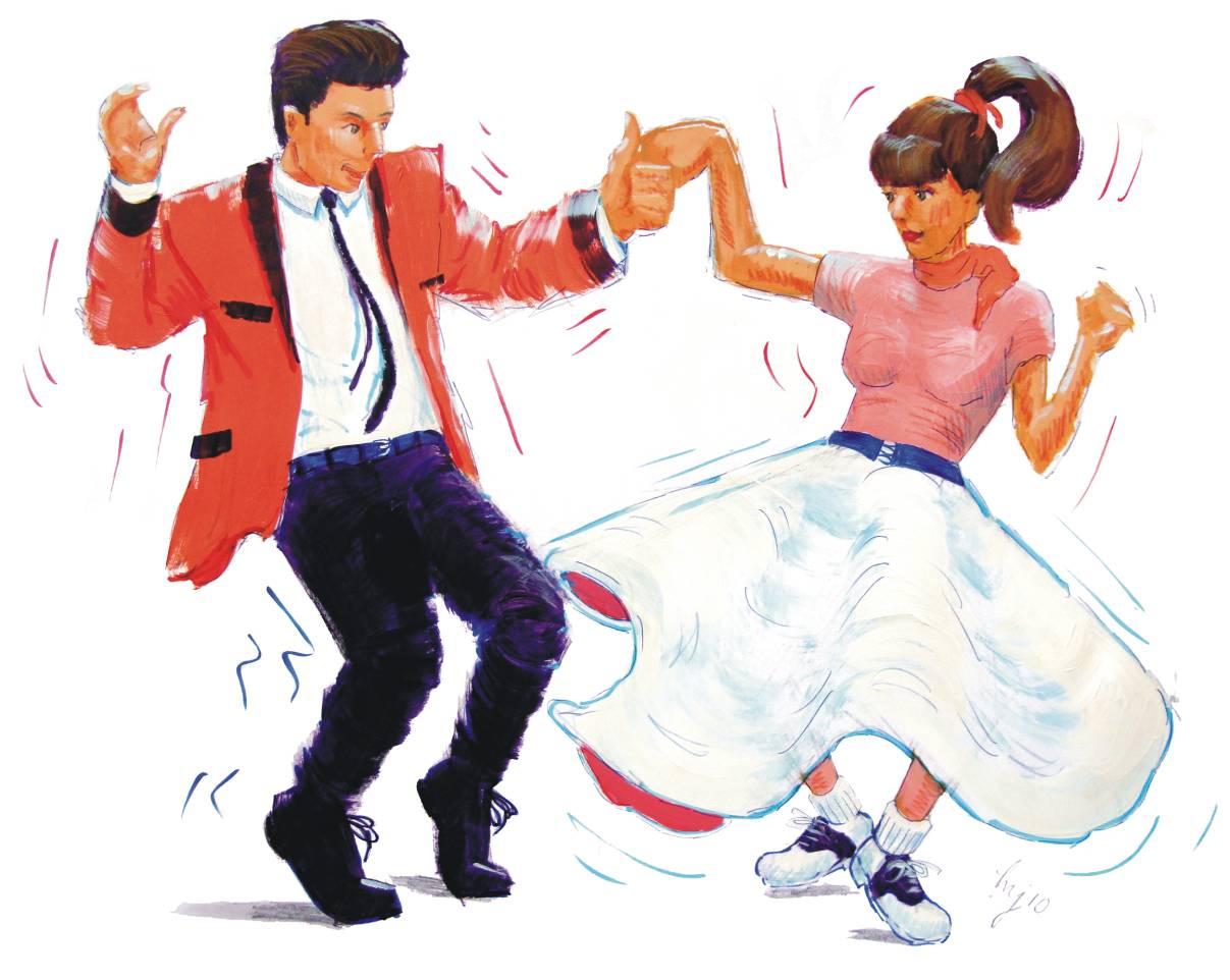 Art By Mike Jory Potd Rock N Roll Dancers - Clipart Kid