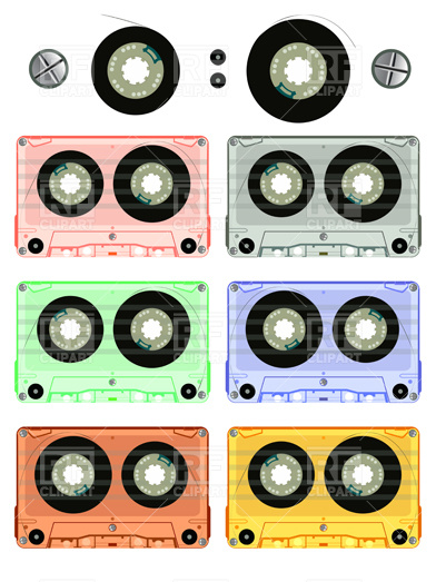 Audio Cassette Tape Drawing Download Royalty Free Vector Clipart