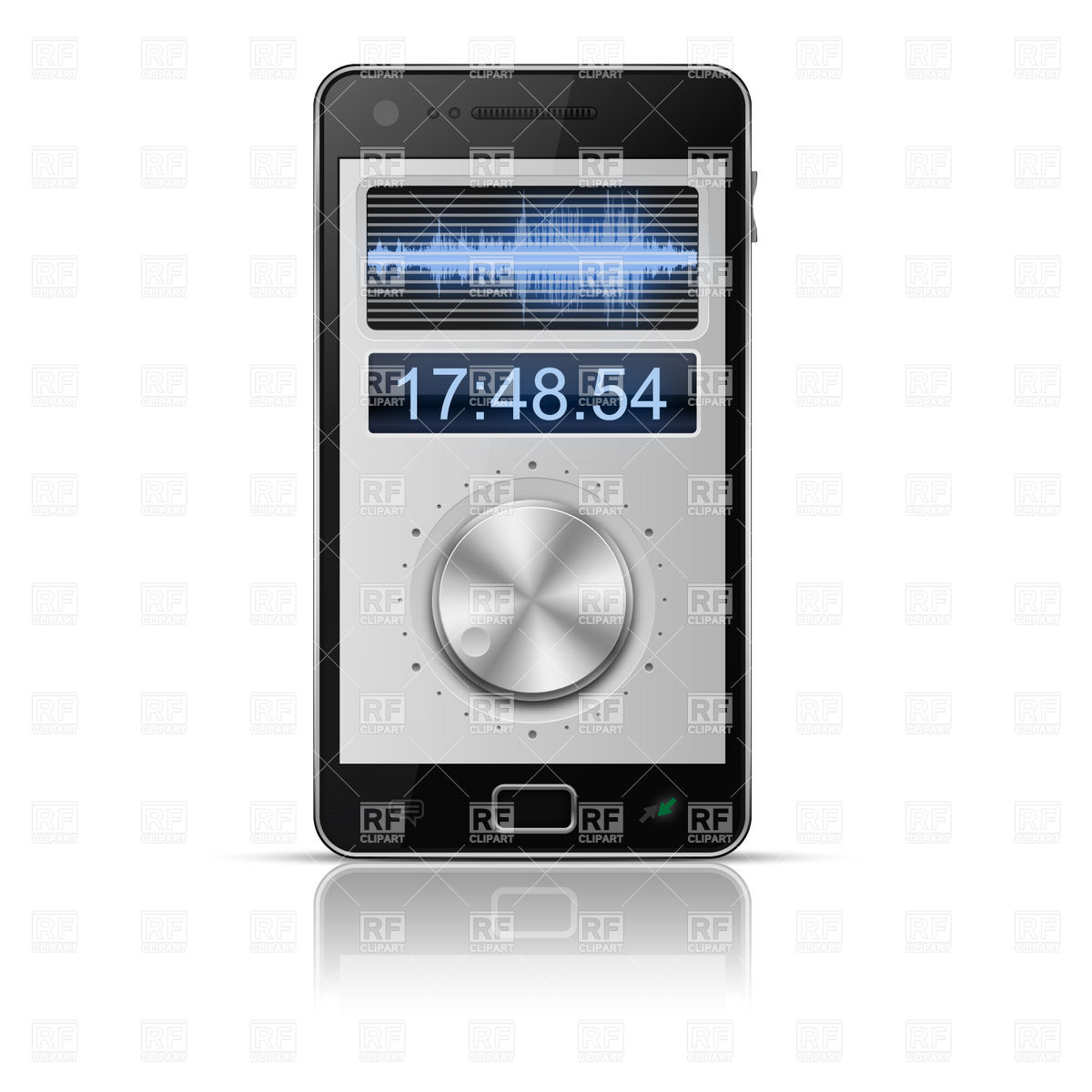 Audio Software Interface For Smartphone Download Royalty Free Vector