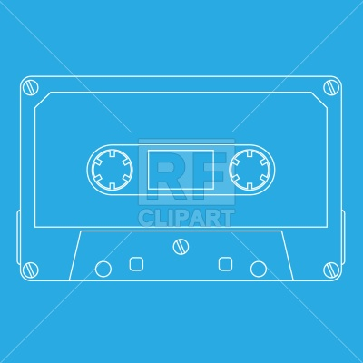 Audio Tape Cassette Technology Download Royalty Free Vector Clip Art