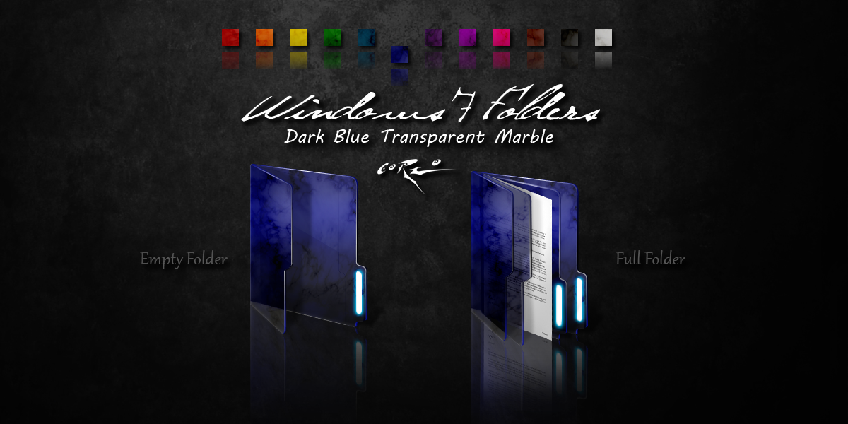Blue Folder Icon Windows 7 Dark Blue Windows 7 Folders By