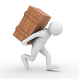 Carry A Box Royalty Free Stock Photos   Image  12984758