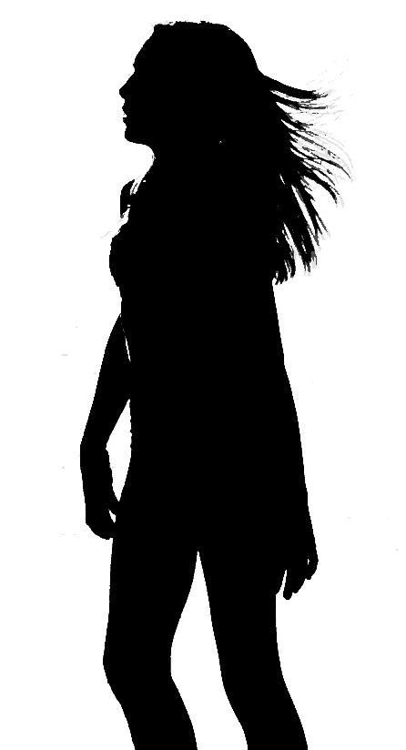 Description Silhouette Of Woman Walking Png