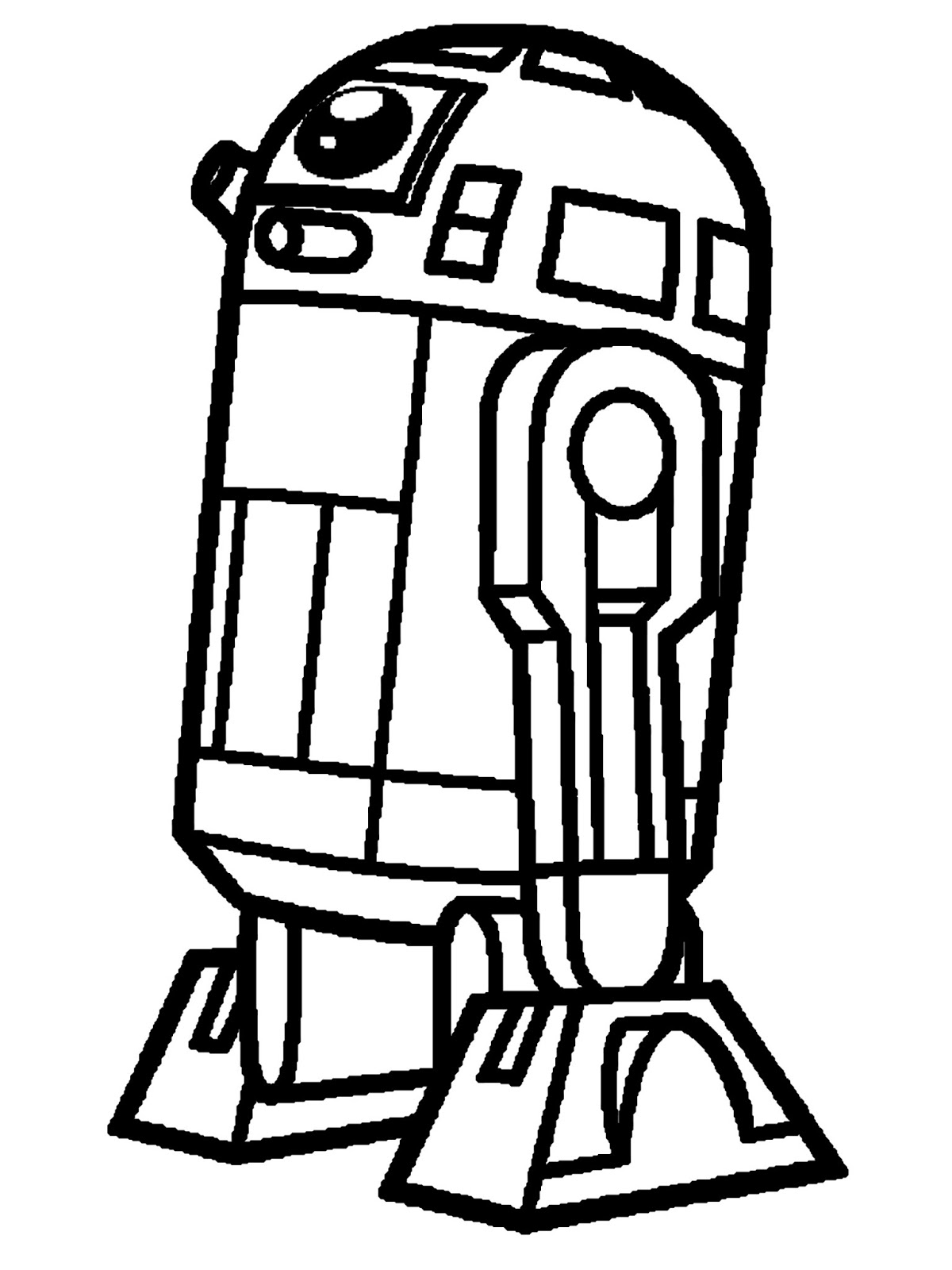 R2d2 Black And White R2-d2 Characters Clipa...