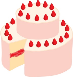 Strawberry Birthday Cake Clipart - Clipart Kid