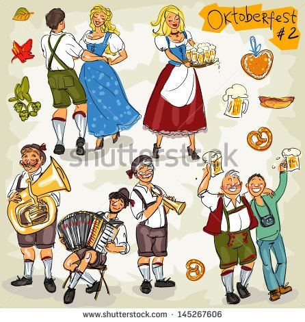 Free Stock Photos And Images  Oktoberfest   Hand Drawn Clip Art