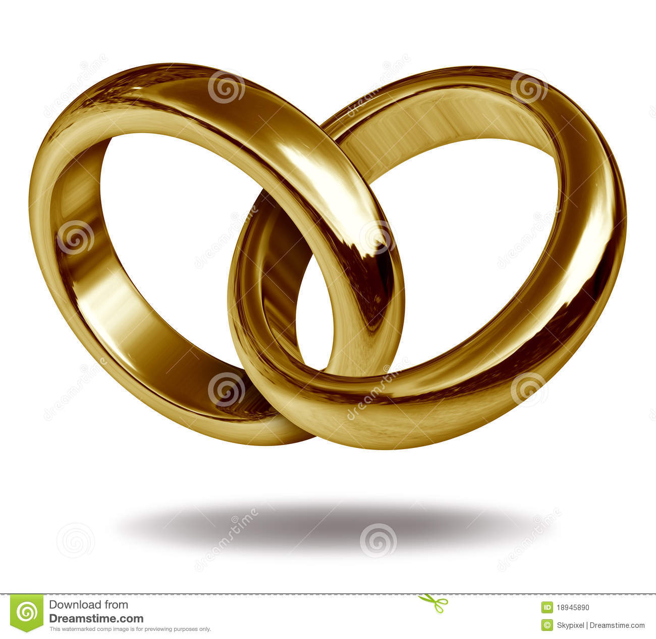 Interlocking Wedding Rings Gold In A Heart Shape Clipart Free Clip ...