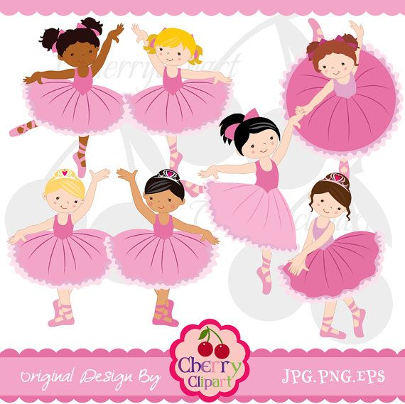 Little Ballerina Digital Clipart - Clipart Kid