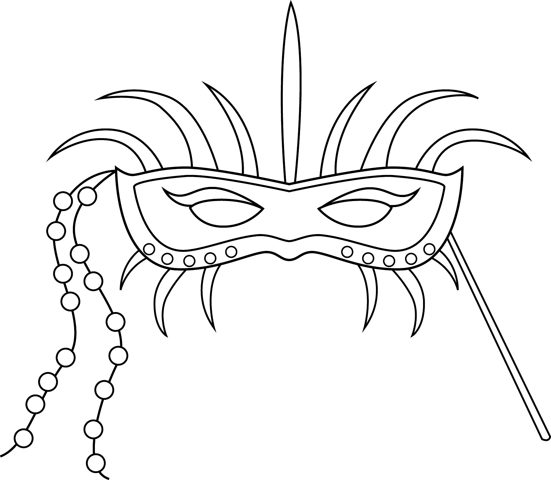 Free coloring pages for mardi gras - Mardi Gras Masks Coloring Pages