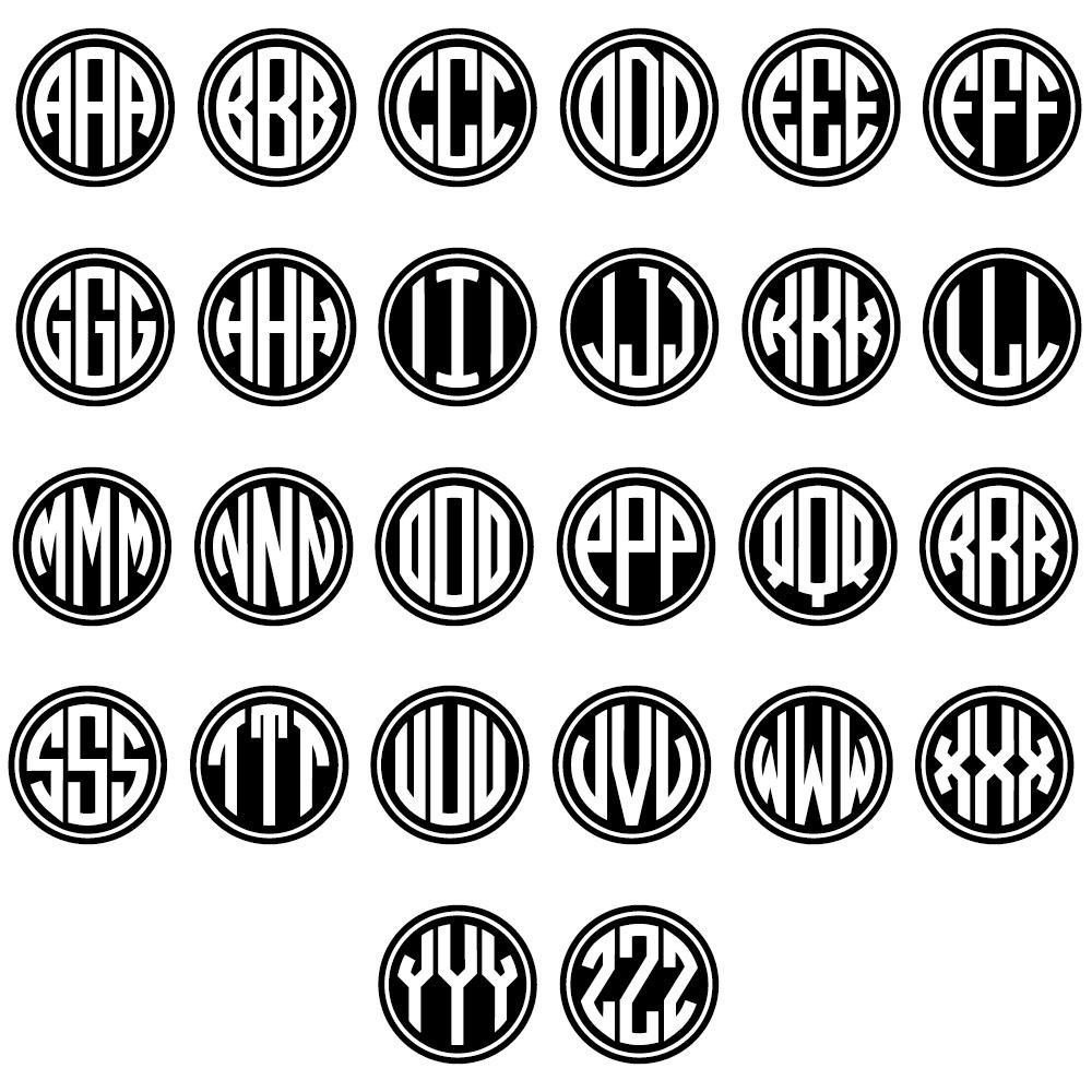 monogram letters font monogram letters template circle monogram